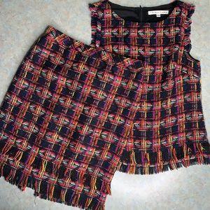 Trina Turk Tweed Oriel Sleeveless Skirt Suit